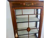 An Edwardian mahogany 3 tiered Display Cabinet