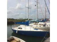 24ft Eygthene 24 cruiser racer sail boat yacht ready to go!