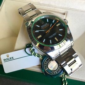 Rolex Milgauss 116400 Oyster Perpetual Steel Watch Serial *MINT CONDITION*