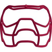 Xenith Prowl Football Facemask Large (RED) + Chin strap (WHITE)
