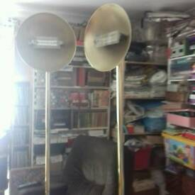 Pair of standard lamps