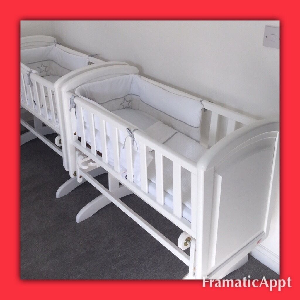 Baby cribs liverpool - White Baby Gliding Crib Moses Cot