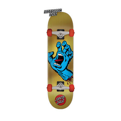 "Santa Cruz Skateboard Complete Screaming Hand Gold/Blue 7.75"" x 31.4"""