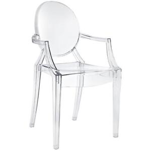Set of 4-Brand New Clear Ghost Chairs- HomeCraftDecor