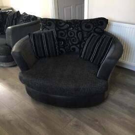 Corner Sofa with swivel chair