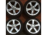 A4 17 inch alloy wheels & tyres Technik original Audi alloys vw passat caddy golf rims a3 5 spoke