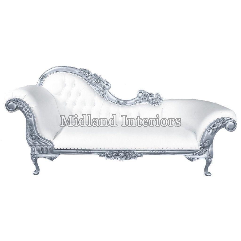 1 x ND NEW - Silver Paris Chaise Longue Asian Italian French ... Chaise Longue Silver on chaise furniture, chaise recliner chair, chaise sofa sleeper,
