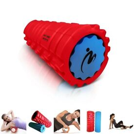 High Quality Foam Rollers (2-in-1) Twice the Benefit for Deep Tissue Massage - Low Cost Overstock