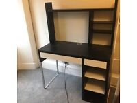 Ikea desk with shelves (micke)