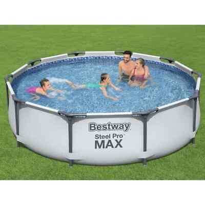 Bestway Piscina de Acero Pro MAX Jardín Patio Terraza sobre Suelo Familia
