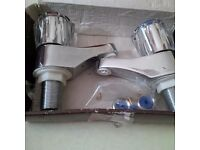 Chrome Brand new taps & other bathroom items