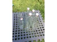 Mason jar style re usable glass bottles 10 for