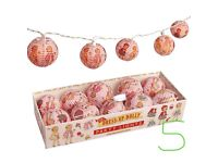 Dress Up Dolly Vintage Style Paper Lantern String Of Lights. (Boxed).