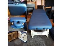Portable Massage couch, height adjustable with detachable head & arm rest.