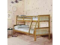 🟡💛BETTER QUALITY IN BEDS💛🟡Kids Bed Trio Wooden Bunk Bed In Multi Colors Optional mattress
