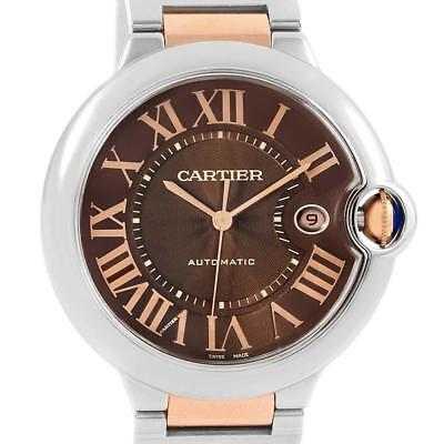 Cartier Ballon Bleu Steel Rose Gold Chocolate Dial Unisex Watch W6920032