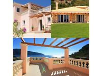 Villas Porto, Agios Georgios, Corfu. Two Beautiful Seafront Holiday Rental Villas.