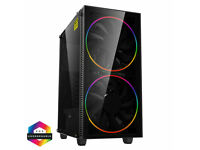 Desktop Gaming PC i7 4770 16GB RAM NVIDIA GTX 1050 240GB SSD Win 10 Pro