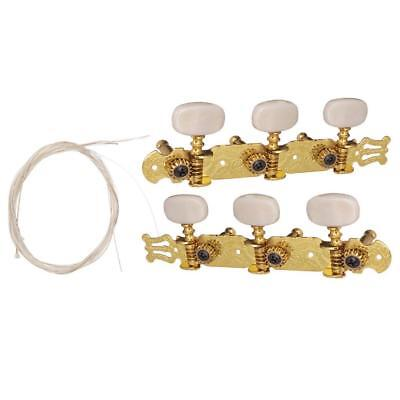2x Acoustic Guitar Tuning Pegs Keys with Nylon String Set for Guitar Parts