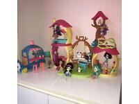 Enchantimals bundle of house, furniture, van, dolls, animals