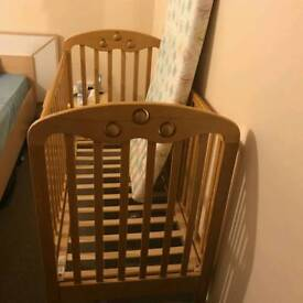 Mother Care Baby Cot with Mattress and blankets
