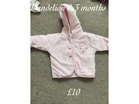 Baby girl dandelion coat