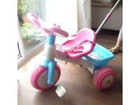 Girls Blue and pink Feber push along bike