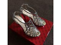 'Guess' Silver Shoes - Size 4 UK