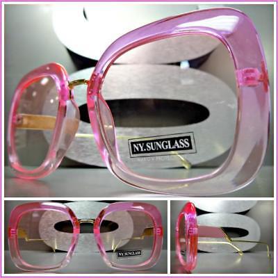 ieben Retro Stil Sonnenbrille Pink Goldrahmen Hell Getönt Linse (Hell Pink Sonnenbrille)