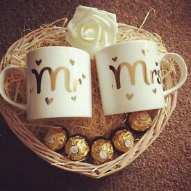 Mr and Mrs small gift basket