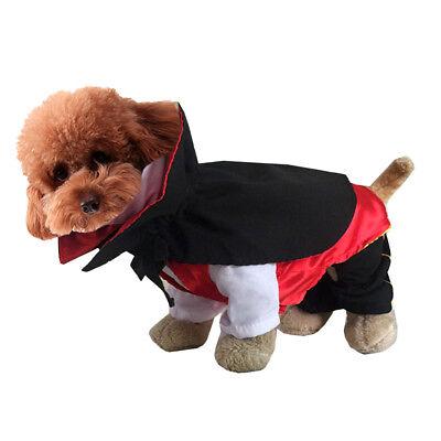 Halloween Hund Vampir Anzug lustige Umhang Cape Festival Cosplay (Vampir Hund Halloween Kostüme)