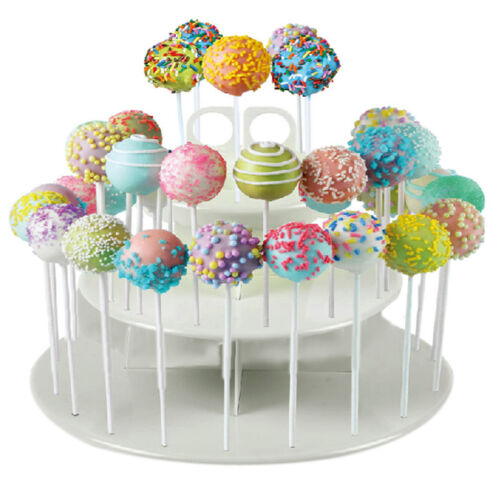 42 Holes Lollipop Holder Cake Pop Display Stand Plastic White