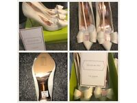 Ted Baker White size 6 shoes with bow detail