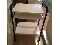 Small white computer desk
