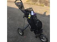 Sun mountain golf bag and cart trolley