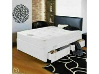 🔵💖🔴DRAWERS or WITHOUT DRAWERS🔵💖🔴Double Divan Bed with Orthopedic mattress Single & King also