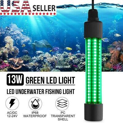 Green 12V LED Underwater Submersible Fishing Light Night Boat Attract Fish Lamp