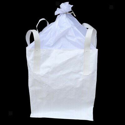 2t/ 4400lbs FIBC Bulk Bag Super Sack 3.0x3.0x3.6' w/ Duffle Top & 4 Loops