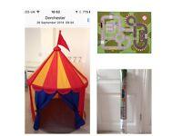 IKEA childs play rug & IKEA circus play tent