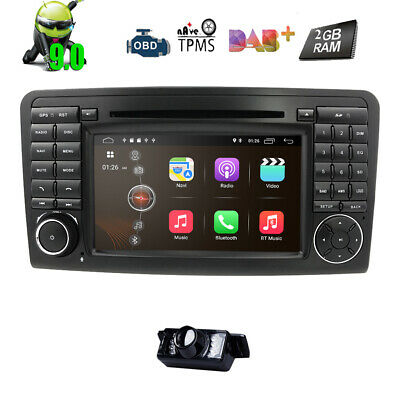Android 9.0 DAB+ Autoradio Mercedes Benz ML/GL Klasse W164 X164 WiFi 4G OBD2 DVD
