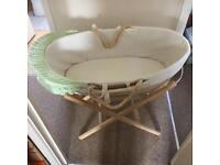 Moses basket and stand had minimal use only