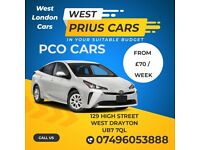 PCO CAR RENT / Private HIRE * TOYOTA PRIUS UBER FREENOW BOLT OLA [ WEST LONDON OFFICE ]