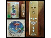 The legend of zelda wii game and controller