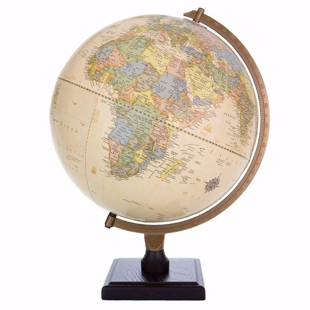 World Globe - Bradley Antique 30cm Diameter Globe