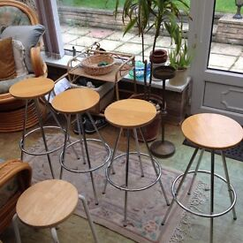 Lovely pine top stools