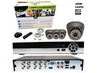 4X HD CCTV 1080P OUTDOOR NIGHT VISION 2 MEGA PIXEL WITH 8 CHANNEL DVR OFFER ONLY FOR £180.00 INC VAT