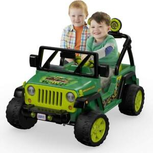 New Power Wheels Kids Car Teenage Mutant Ninja Turtles, Jeep Wrangler