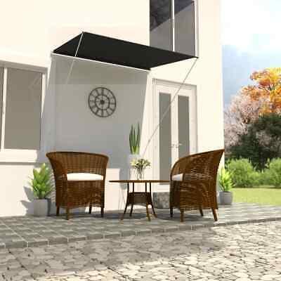 vidaXL Retractable Awning 150x150cm Anthracite Window Door Canopy Sun Screen