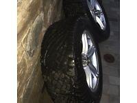 Snow tyres on Audi Alloys