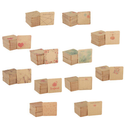 100 Set Kraft Paper Earring Display Cards For Jewelry Earring And Necklace Ear